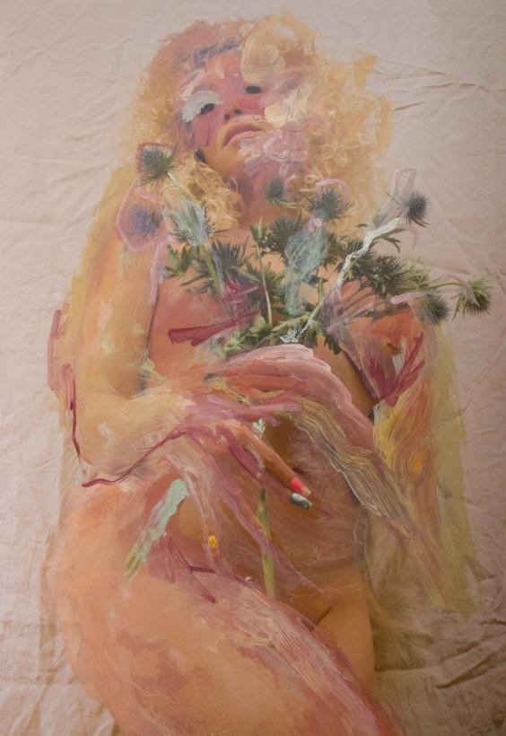 "<span class=""artist""><strong>Jess Cochrane</strong></span>, <span class=""title""><em>Thistles</em>, 2021</span>"