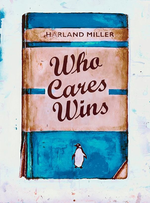 "<span class=""artist""><strong>Harland Miller</strong></span>, <span class=""title""><em>Who Cares Wins</em>, 2020</span>"