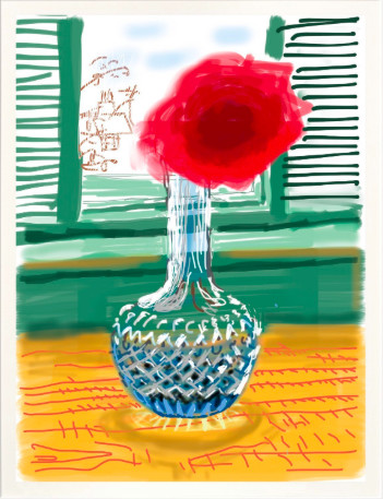"<span class=""artist""><strong>David Hockney</strong></span>, <span class=""title""><em>iPad drawing 'No. 281', 23rd July 2010</em>, 2020</span>"