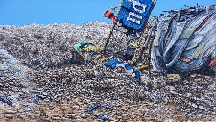 Slum Landfill Disneyland Sign End