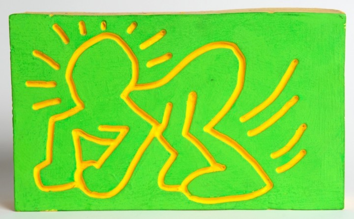 "<span class=""artist""><strong>Keith Haring</strong></span>, <span class=""title""><em>Crawling Radiant Baby Wood Carving</em>, 1983</span>"