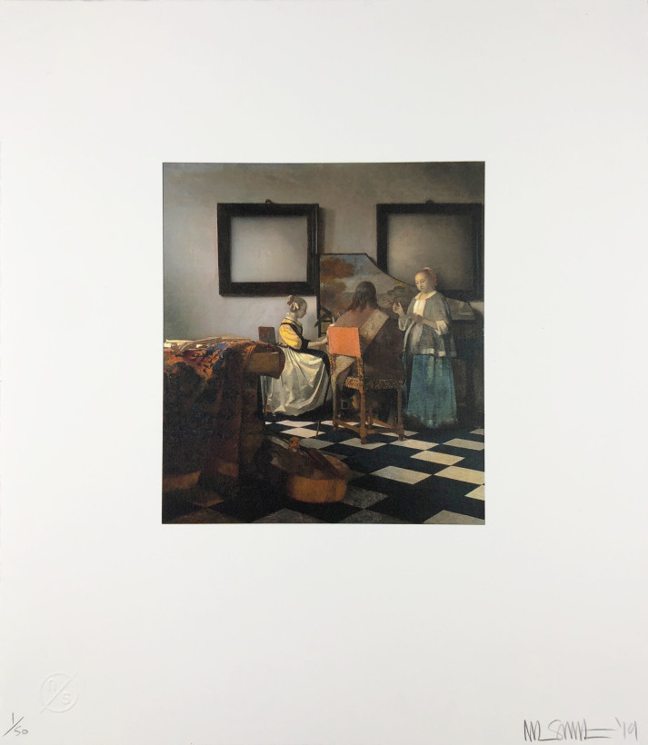 "<span class=""artist""><strong>Nick Smith</strong></span>, <span class=""title""><em>Vermeer - The Concert</em>, 2019</span>"