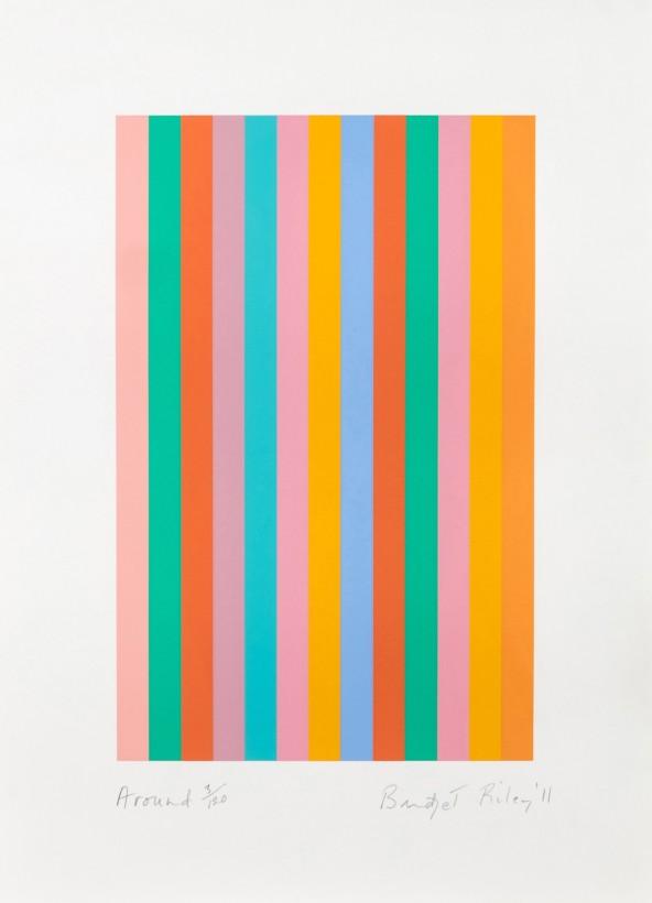 <span class=&#34;artist&#34;><strong>Bridget Riley</strong></span>, <span class=&#34;title&#34;><em>And Around</em></span>
