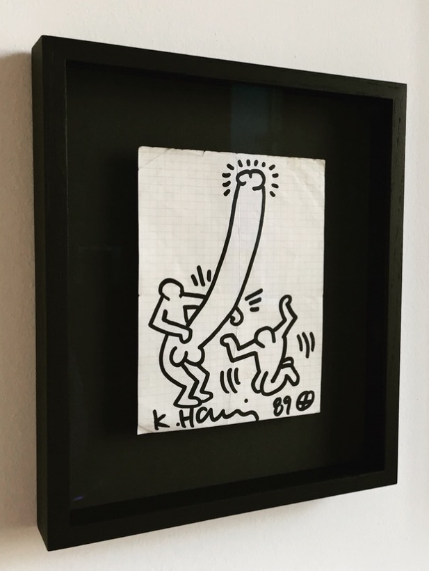 "<span class=""artist""><strong>Keith Haring</strong></span>, <span class=""title""><em>Untitled (Drawing on Paper, Penis)</em>, 1989</span>"