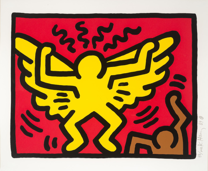 "<span class=""artist""><strong>Keith Haring</strong></span>, <span class=""title""><em>Untitled (From Pop Shop IV)</em>, 1989</span>"