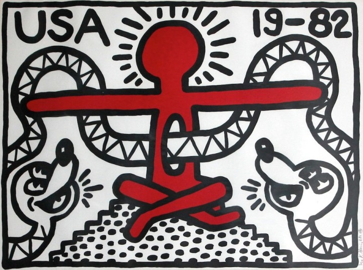 "<span class=""artist""><strong>Keith Haring</strong></span>, <span class=""title""><em>USA 19-82</em>, 1982</span>"