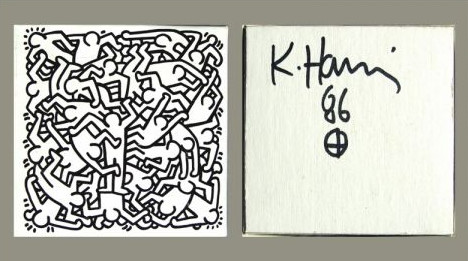 """<span class=""""artist""""><strong>Keith Haring</strong></span>, <span class=""""title""""><em>Jigsaw Puzzle</em>, 1986</span>"""