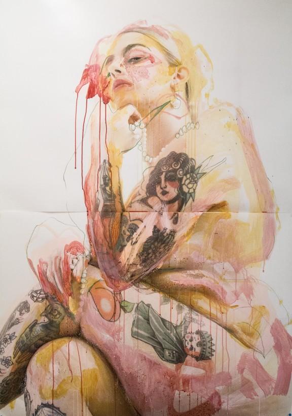 """<span class=""""artist""""><strong>Jess Cochrane</strong></span>, <span class=""""title""""><em>Sweet Peach (Original)</em>, 2020</span>"""