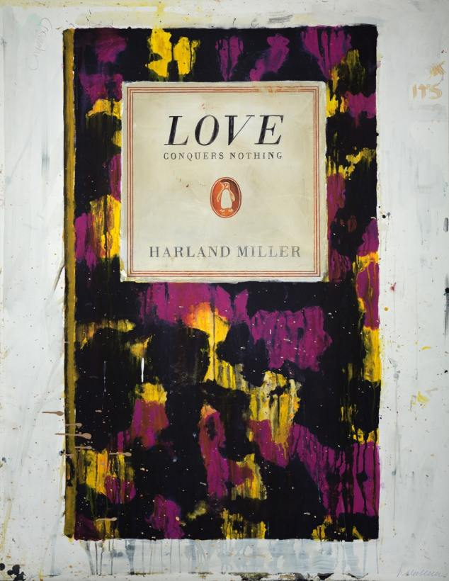 """<span class=""""artist""""><strong>Harland Miller</strong></span>, <span class=""""title""""><em>Love Conquers Nothing</em>, 2011</span>"""