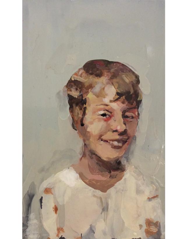 Smiling Girl White Blouse