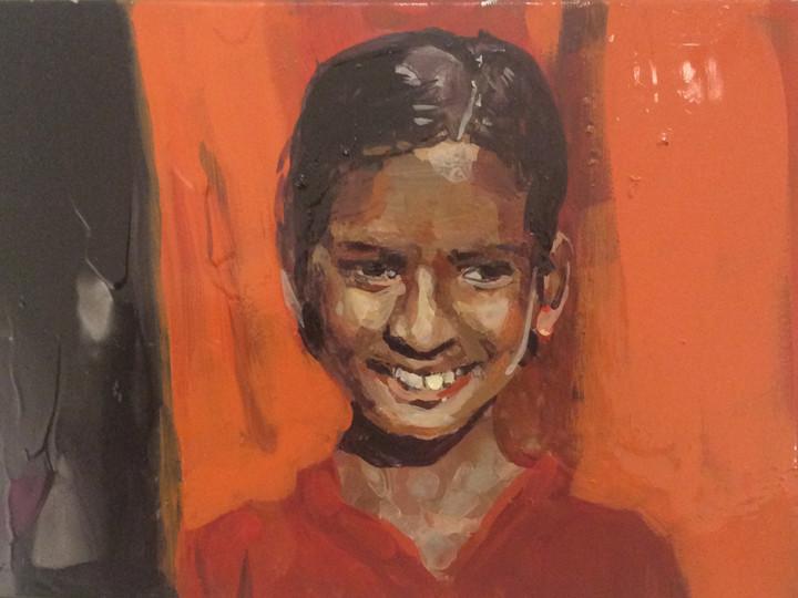 Little Girl Saffron Yellow