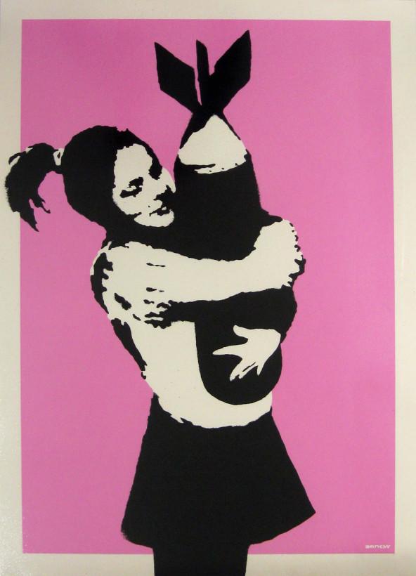 <span class=&#34;artist&#34;><strong>Banksy</strong></span>, <span class=&#34;title&#34;><em>Bomb Hugger</em>, 2003</span>