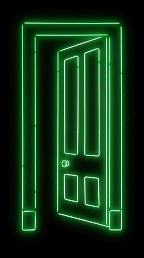"""<span class=""""artist""""><strong>Gavin Turk</strong></span>, <span class=""""title""""><em>Door (Green)</em></span>"""