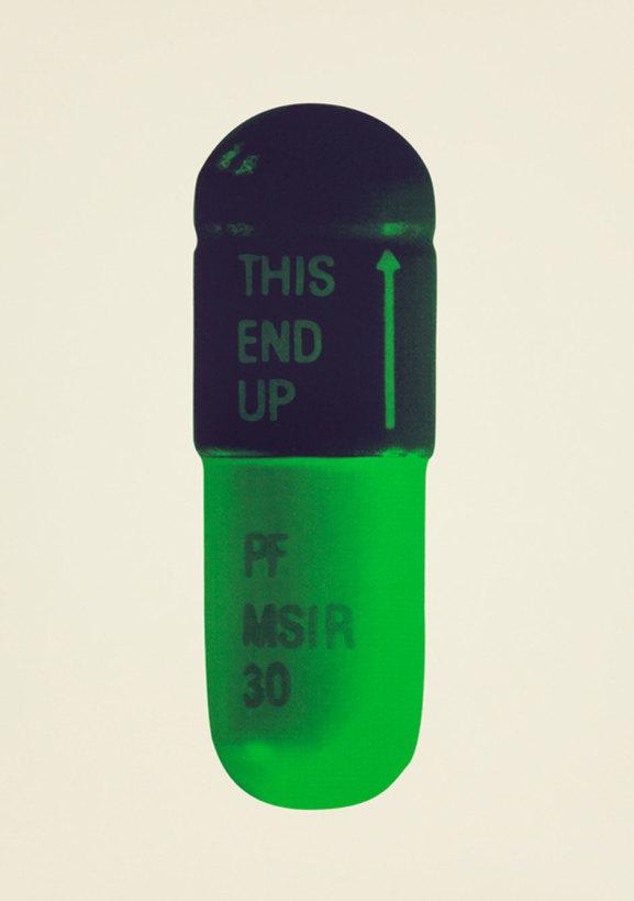 The Cure - Cream/Aubergine/Pea Green