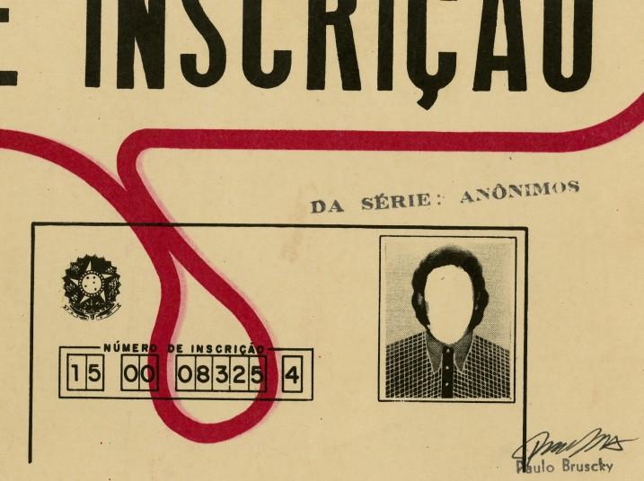 Paulo Bruscky. Da série: Anônimos # 1, década de 1980. Cortesia do artista e Galeria Nara Roesler.