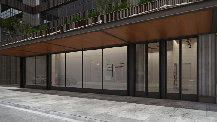 Galeria Nara Roesler's facade at 511 W21 st St | 10011 | courtesy MPG Arquitetos.