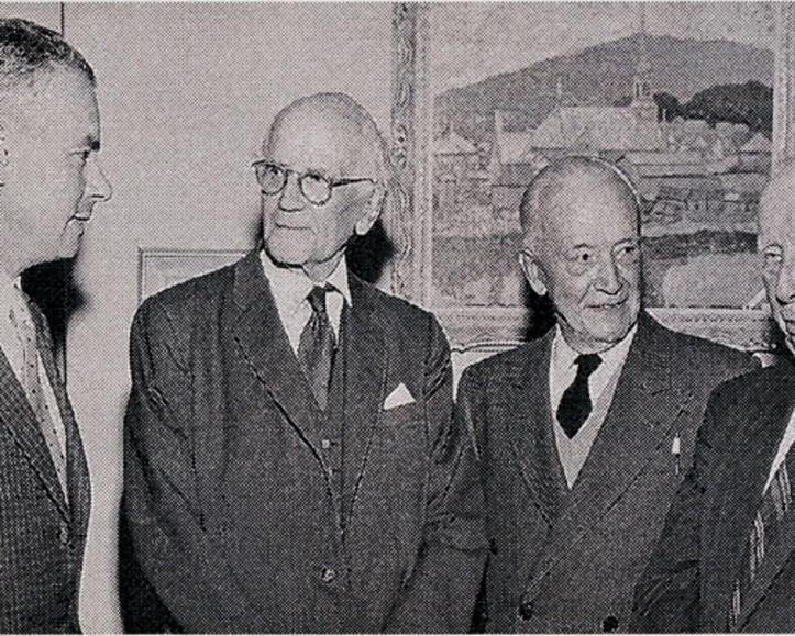Walter Klinkhoff with Arthur Lismer, Edwin Holgate and A.Y. Jackson.