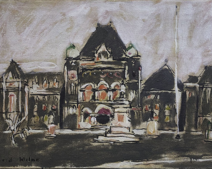 David Milne, Parliament Buildings at Queen's Park, 1940.