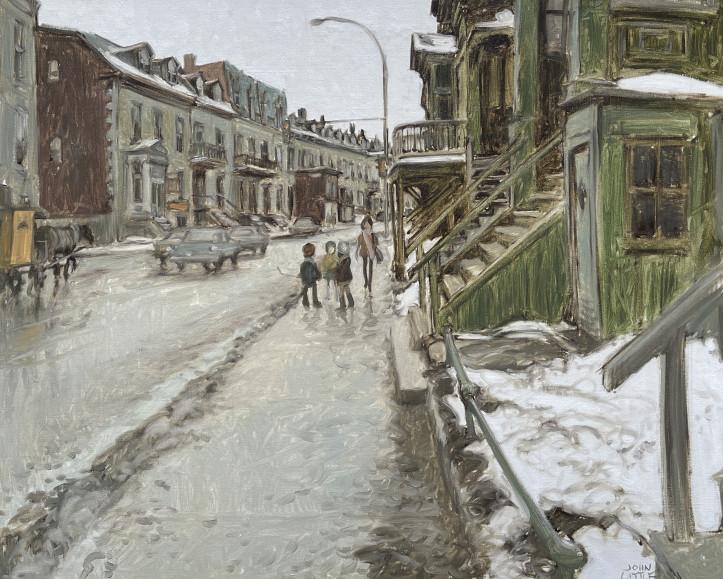 John Little and suburbanization - St. Antoine Street At Fulford, St. Henri.
