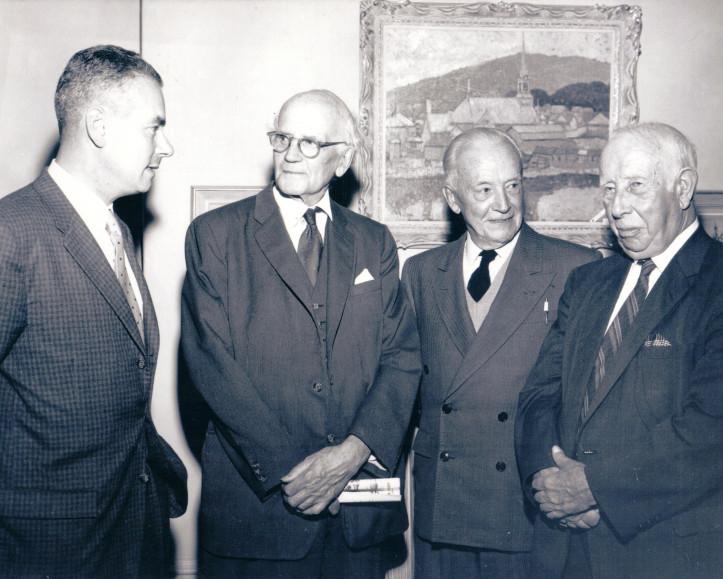 Walter Klinkhoff with Arthur Lismer, , Edwin Holgate and A.Y. Jackson