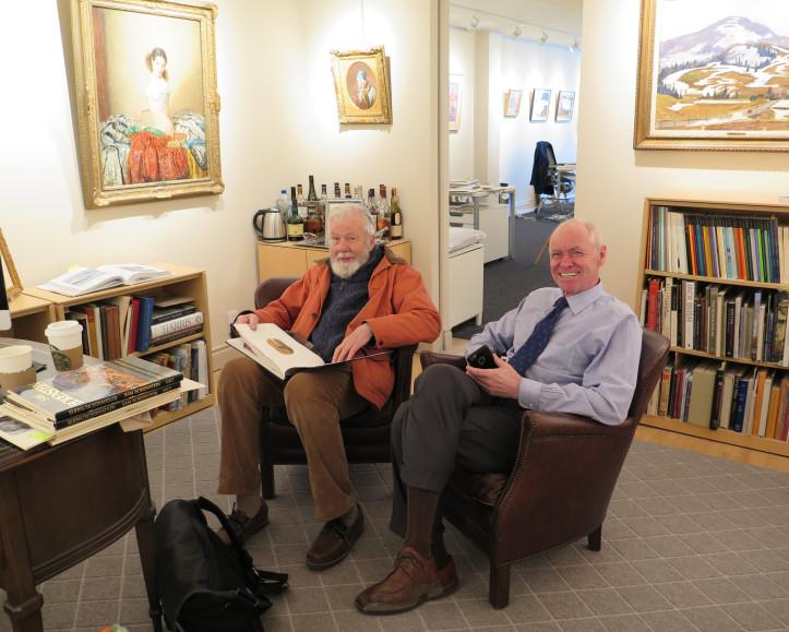 Tom Forrestall and Alan Klinkhoff at Alan Klinkhoff Gallery, Toronto