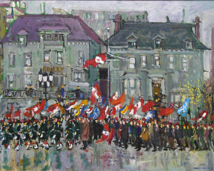 Molly Lamb Bobak, C.M., O.N.B., R.C.A. (1920-2014) Remembrance Day (1), Montreal, 1983
