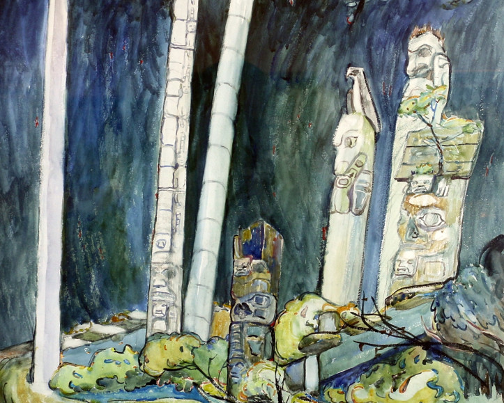 """Emily Carr's """"Totems, Tanoo"""": Unpublished and Unseen in Public since 1944"""