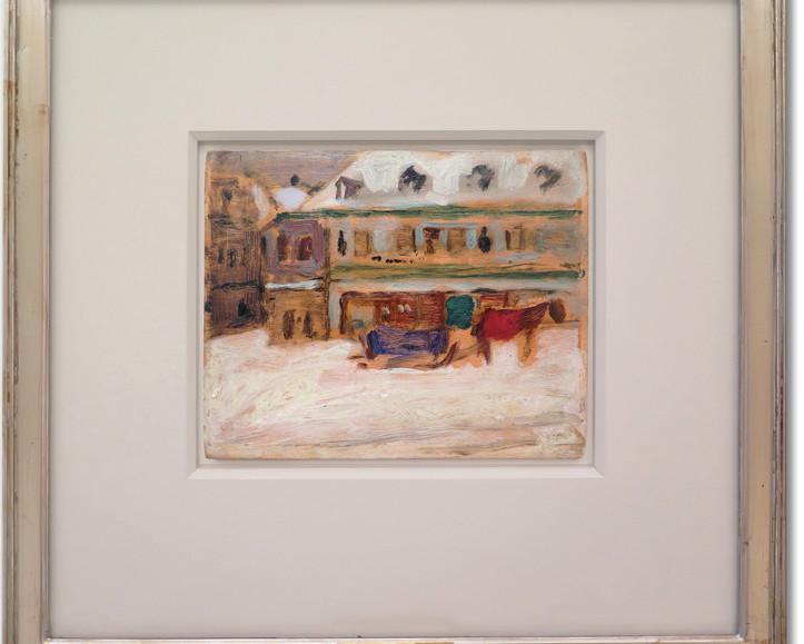 """Preparatory study for the canvas """"Effet de neige, Montréal"""" by James Wilson Morrice """"a wonderful surprise"""""""