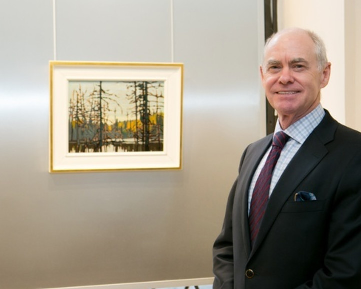 Alan Klinkhoff with Beaver Swamp by Lawren Harris