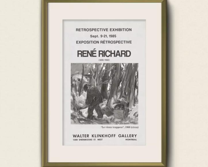 Chef-d'Oeuvre de René Richard souligne l'importance pancanadienne de l'artiste