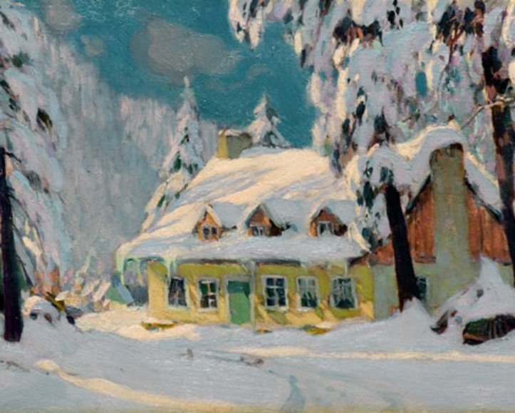 "Clarence Gagnon's ""Après la Tempête"" (c. 1922), the height of his artistic powers"