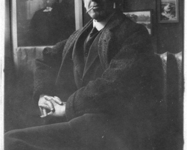 John Young Johnstone in his studio
