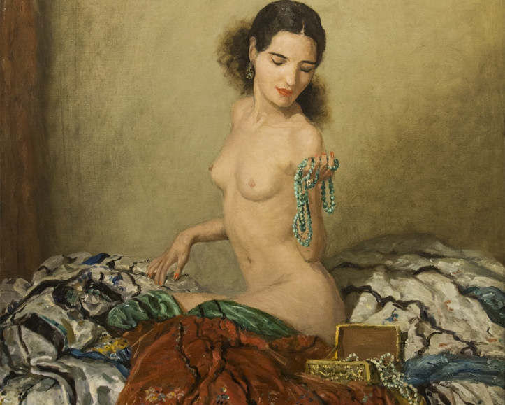 FREDERICK SIMPSON COBURN, R.C.A. (1871-1960) The Green Necklace, 1938 Oil on canvas, 31 x 25 in