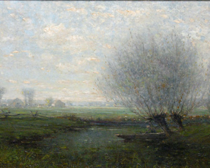 Canadian Landscape Painting by Percy Woodcock