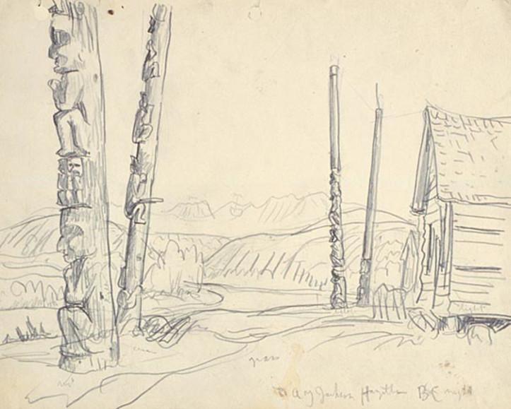 À PART DEUX DES TOILES CONNUES DU LÉGENDAIRE VOYAGE SUR LE FLEUVE SKEENA EN 1926, TOUS SONT DANS DES MUSÉES