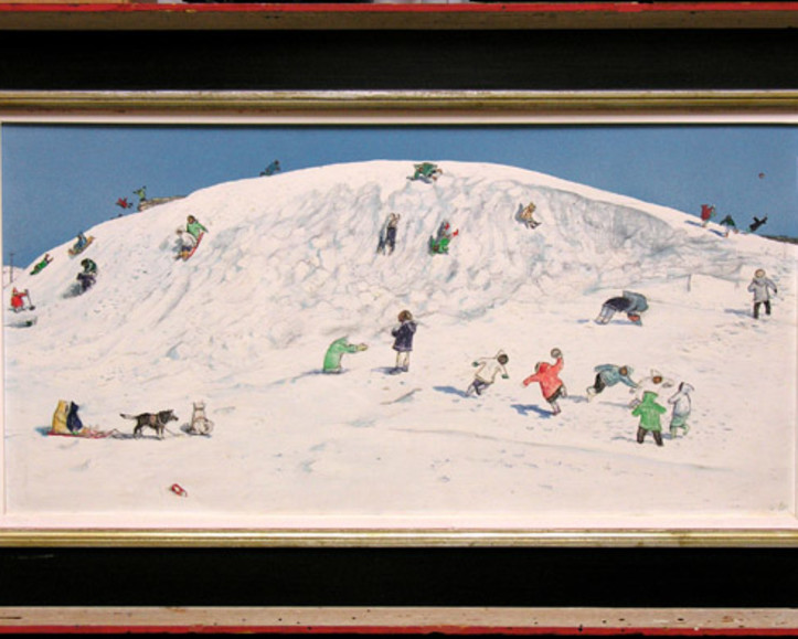 "William Kurelek, ""Eskimo Children Playing, Cape Dorset"", 1968"