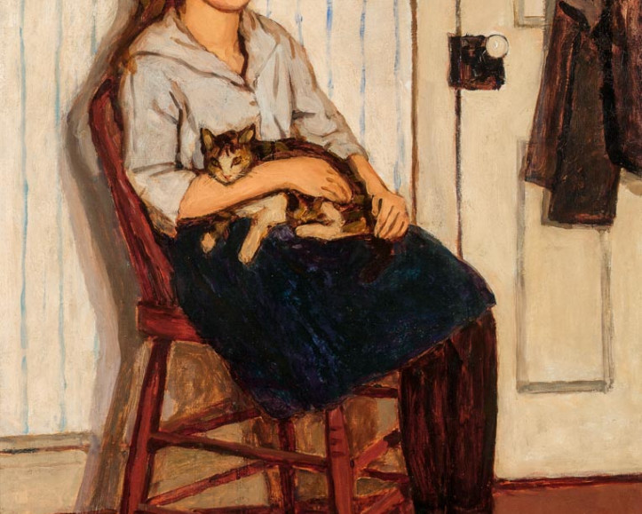 Girl and Cat, the distinguished canvas painted by Emily Coonan c. 1920, was exhibited frequently in the early 1920s.