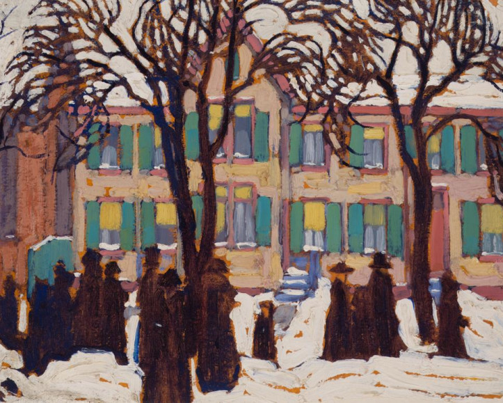 FEATURED PAINTING: Lawren Harris, Return from Church, 1919