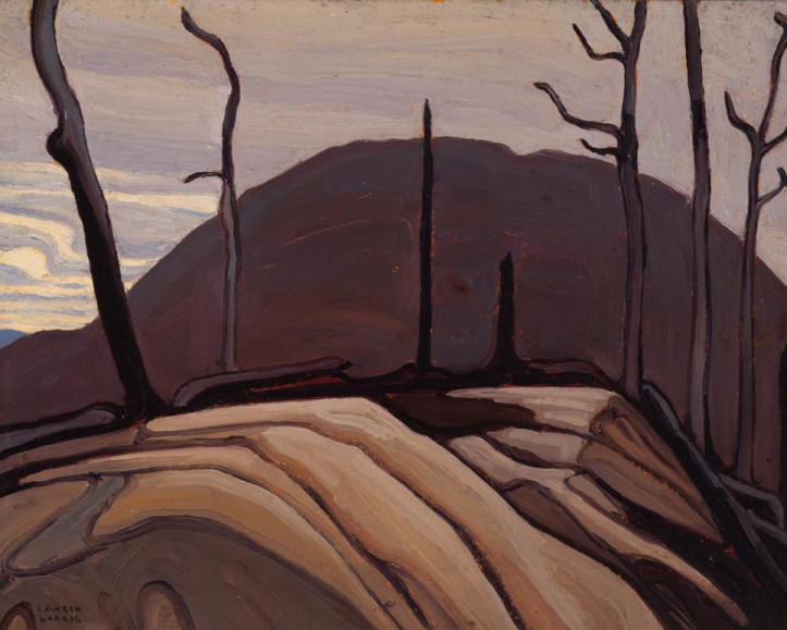 Featured Painting: Lawren Harris, Rock and Hill (Lake Superior Sketch CXXXII) 1922