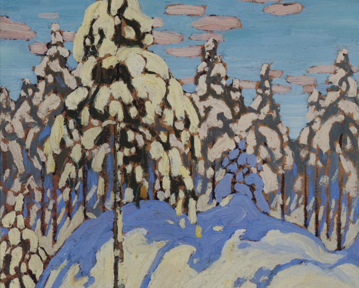 """Featured Painting: Lawren Harris, """"Snow Laden Trees"""", c. 1916. By Charles C. Hill"""