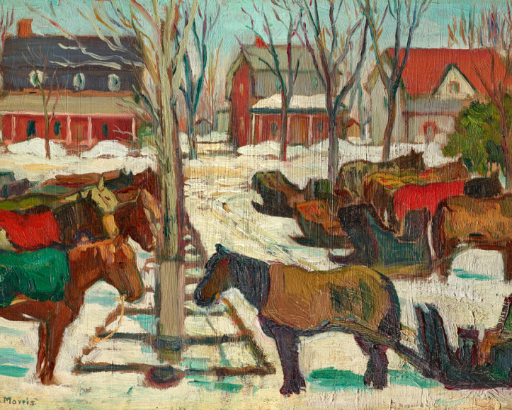 Kathleen M. Morris | Hitching Posts, Berthierville, Quebec, circa 1925