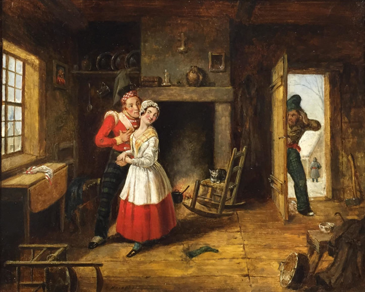 "Cornelius Krieghoff (1815- 1872), ""The Jealous Husband"", 1845"