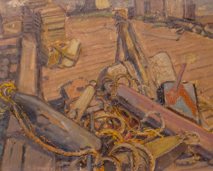 Arthur Lismer, LL.D., R.C.A., O.S.A. (1885-1969) - Ropes and Gear, Neil's Harbour, Cape Breton I., N.S., 1946