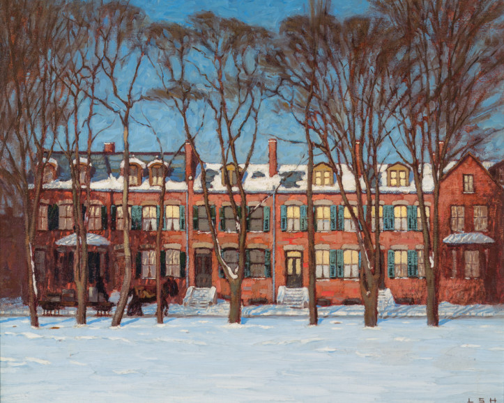 Lawren Harris, A Row of Houses, Wellington Street