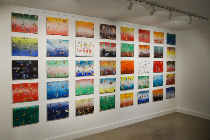 """<span class=""""artist""""><strong>Balraj Khanna</strong></span>, <span class=""""title""""><em>The Great Wall of Small Is Beautiful</em>, 2015-17</span>"""