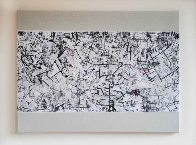 """<span class=""""artist""""><strong>Lulu Manasseh</strong></span>, <span class=""""title""""><em>Between Here and There, Map A</em>, 2017</span>"""