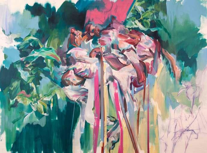 "<span class=""artist""><strong>Hermann Mejía</strong></span>, <span class=""title""><em>Hanging</em>, 2016</span>"