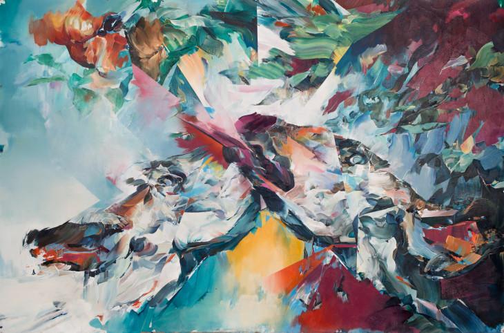 "<span class=""artist""><strong>Hermann Mejia</strong></span>, <span class=""title""><em>Encounter</em>, 2015</span>"