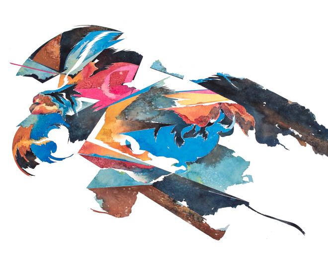 "<span class=""artist""><strong>Hermann Mejia</strong></span>, <span class=""title""><em>Tirapiedra 09</em>, 2015</span>"