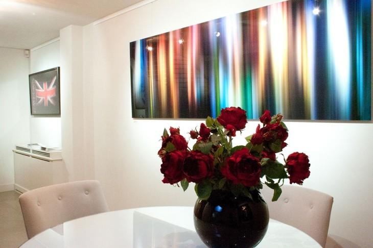 <p>Allan Forsyth   Vivid Light, Installation view, 2014</p>